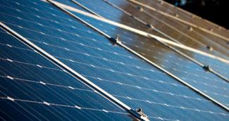 close up shot of solar panels